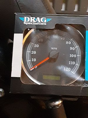 """Speedometer Blk. MPH 5"""", for a 04 - 13 FLHR Harley-Davidson fatboy lo solftail motorcycle,from: DRAG Specialties .PARTS#: 2210-0462 ,(brand new) for Sale in Phoenix, AZ"""