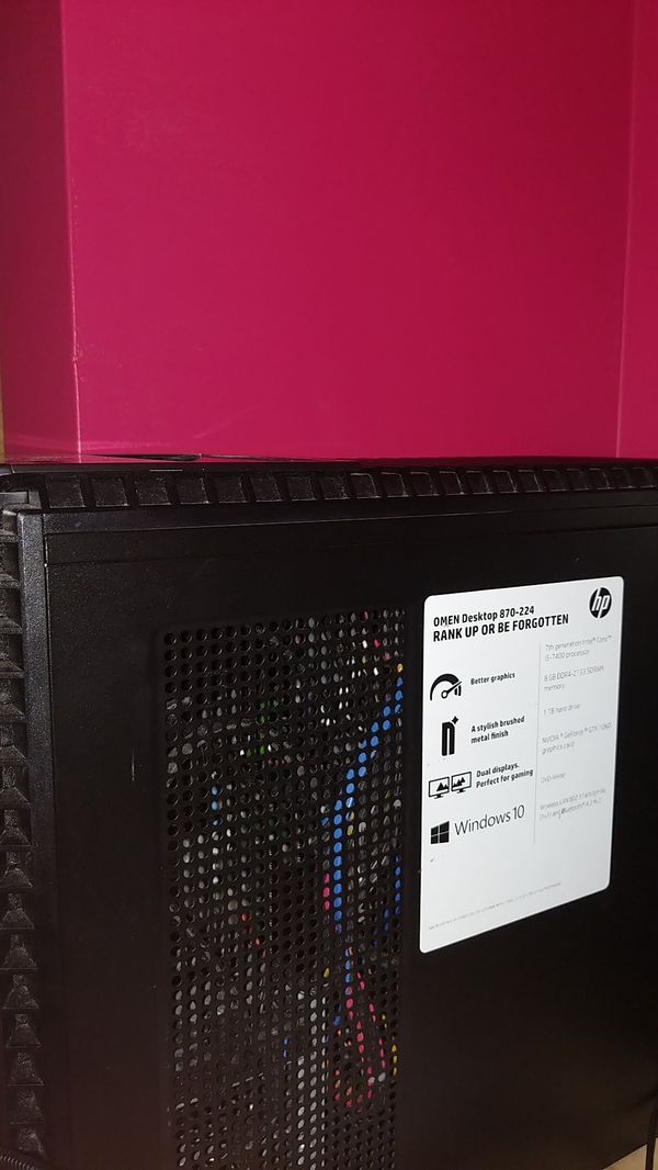 Gaming omen Computer upgraded a little