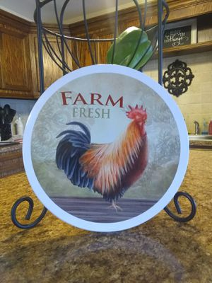 Rooster metal plaque for Sale in Houston, TX
