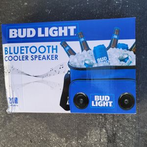 Bud Light 24-Can Insulated Cooler Bag with Bluetooth Stereo Speaker for Sale in Mountain View, CA