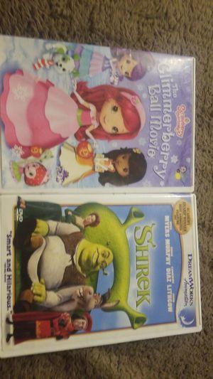 Lot 2 DVD Shrek GlimmerBerry Ball Movie for Sale in Phoenix, AZ