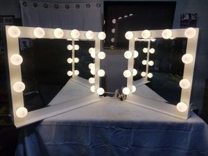 HOLLYWOOD STYLE VANITY MAKEUP MIRRORS!! WHITE for Sale in Lilburn, GA
