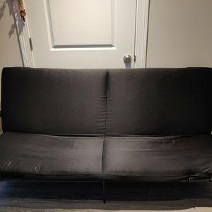 Full Size Black Futon for Sale in Deerfield, IL