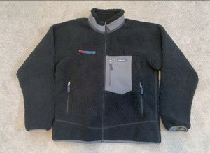 Patagonia Classic Retro X Fleece Jacket Black Men's Large Deep Pile Embroidered for Sale in Pelham, NH