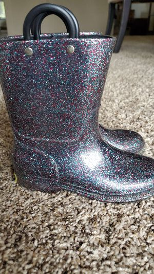 Western Chief Rain boots glitter girl Size 1 for Sale in Bakersfield, CA