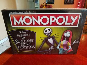 Disney's Nightmare Before Christmas Monopoly Game for Sale in Fontana, CA