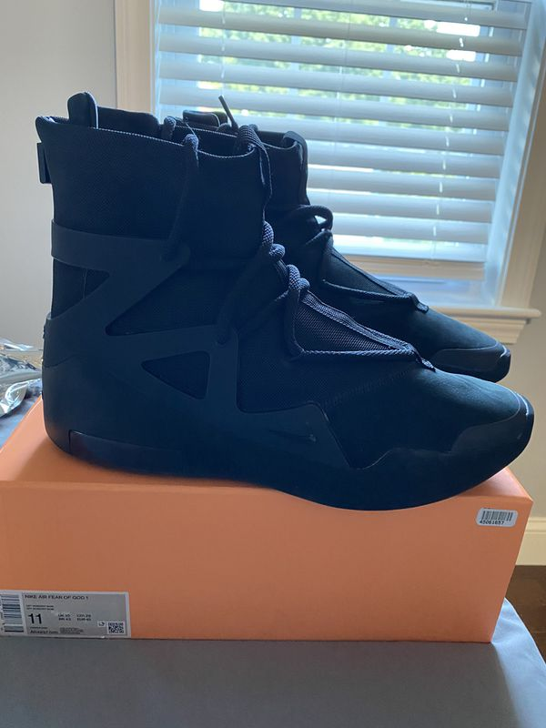 Fear of God Jordan 1 Triple Black size 11