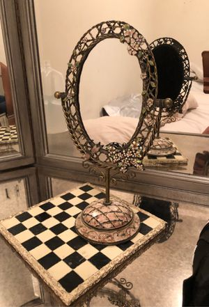 Antique Vintage Mirror + Butterly Pin for Sale in Laurel, MD