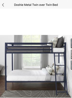 Twin bunk bed with mattresses for Sale in Buffalo, NY