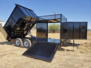 Custom landscape trailer dump trailer for Sale in Goodyear, AZ