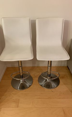 Faux Leather White Adjustable Barstools for Sale in San Francisco, CA