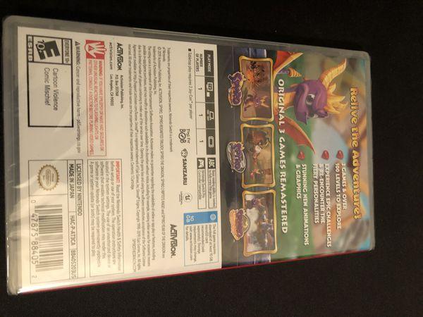 Nintendo switch Spyro Trilogy