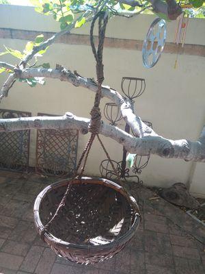 4 rattan large hanging pot/plant holders for Sale in Phoenix, AZ