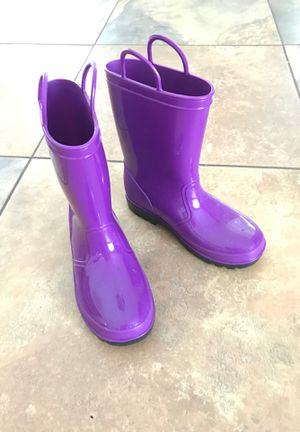 Rain boots big kids size 1 for Sale in Plantation, FL