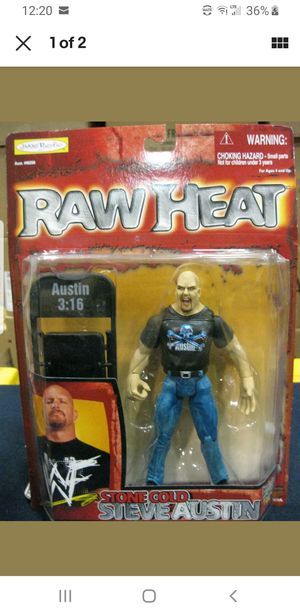"vintage 1999 WWF Raw Heat Stone Cold Steve Austin 6.5"" Wrestling Action Figure for Sale in Spring, TX"