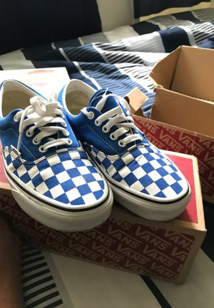 blue low top checkerd vans for Sale in Elk Grove, CA