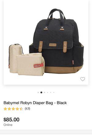 Babymel Robyn Diaper Bag in Black for Sale in Chino, CA