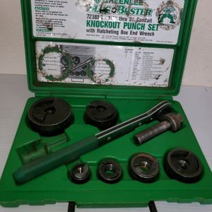 16 Piece Greenlee Punch Driver Set, 10 ga Steel- MISSING one screw for the 1/2 inch punch. for Sale in Mount Hamilton, CA