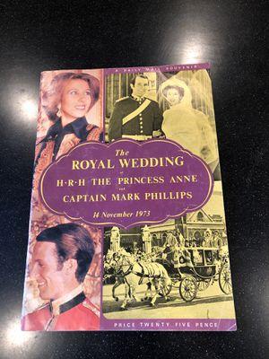 Souvenir Wedding Magazine of Princess Anne/Cptn. Mark Phillips for Sale in Puyallup, WA