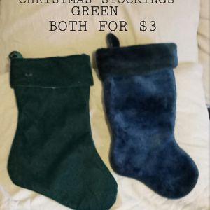 CHRISTMAS STOCKINGS GREEN for Sale in Phoenix, AZ