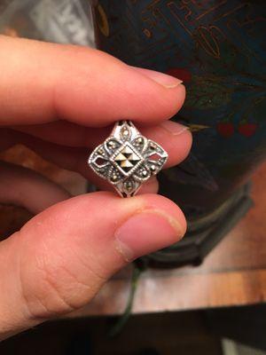 Vintage Marcasite Art Deco 1920's Sterling Silver Ring- Size 7 for Sale in Atlanta, GA