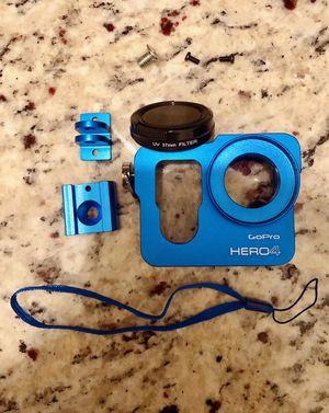Aluminum Housing Case Frame with 37mm UV filter for GoPro Hero 4 , blue color for Sale in Windermere, FL