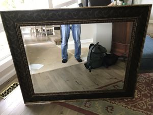 Large framed mirror for Sale in Bellevue, WA