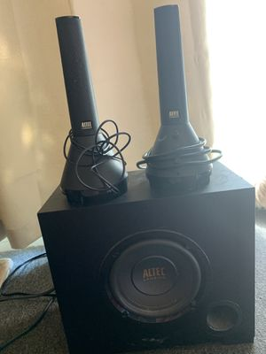 Altec Lansing Satellite speakers with sub for Sale in Saint George, VT