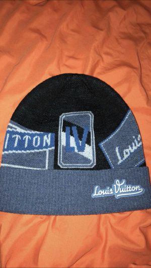 Lv designer beanie for Sale in St. Petersburg, FL