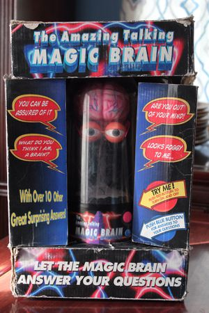 The Amazing Magic Talking Brain Houdini Toy 1999 15 Different Answers Great Christmas Gift for Sale in Poway, CA