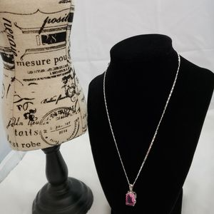 Beautiful Pink Tourmaline Gem Silver Necklace for Sale in Cleveland, OH