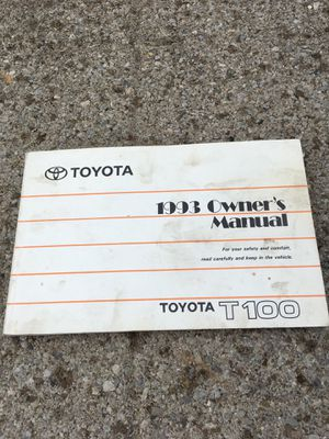 Owner manual 1993 Toyota truck T100 for Sale in North Huntingdon, PA