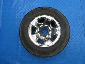 "17"" Dodge Ram 1500 2500 3500 SRW 8 lug steel chrome clad rim tire wheel #6310 for Sale in Hallandale Beach, FL"