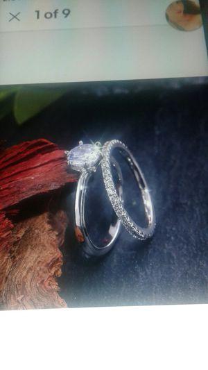 Gorgeous 2 pcs/ set 925 Silver Wedding Rings for Sale in Phoenix, AZ