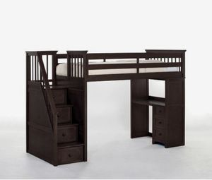 Kids Loft Twin Bed With Stair Storage and Desk for Sale in La Mirada, CA
