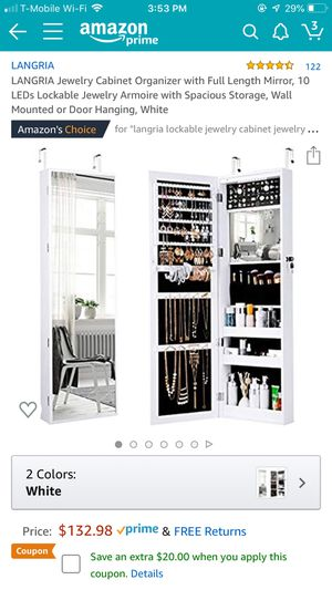 Jewelry Cabinet/ Armoire for Sale in Oakland, CA