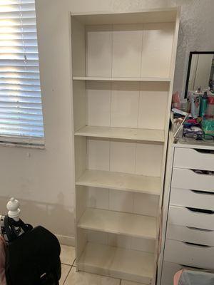 White bookcase shelf for Sale in Homestead, FL