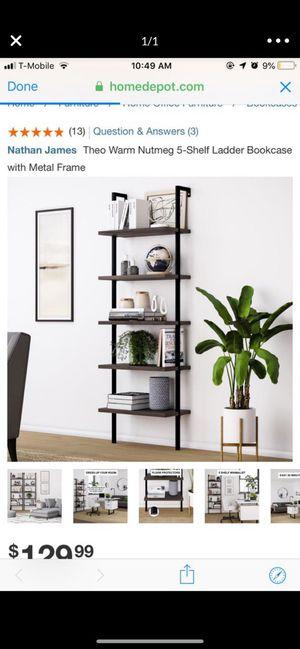 Theo Warm Nutmeg 5 shelf ladder book case for Sale in Garden Grove, CA