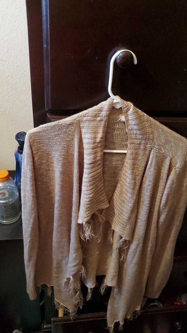 Women's Cardigan Size L with fringe