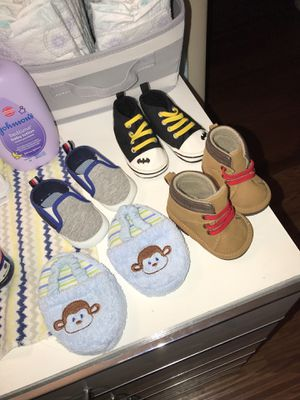 Baby shoes and hat for Sale in Germantown, MD