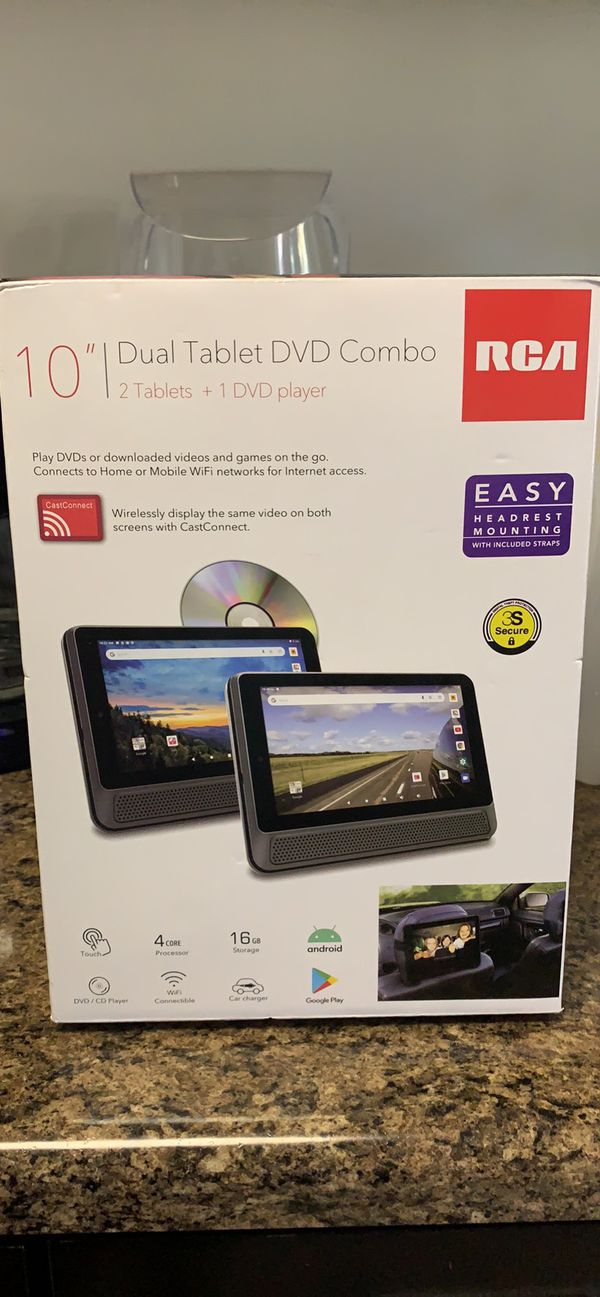 "RCA 2 10"" ANDROID TABLETS/DVD PLAYER"
