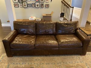 RH Leather sleeper sofa / couch for Sale in McDonald, PA