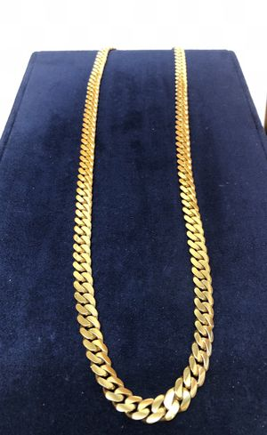 Heavy Miami Style Gold Chain Cuban Link 14 Karat for Sale in Orlando, FL