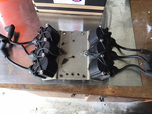 Mercury outboard v6 coil assembly covers plug wires and mounting bracket for Sale in St. Cloud, FL