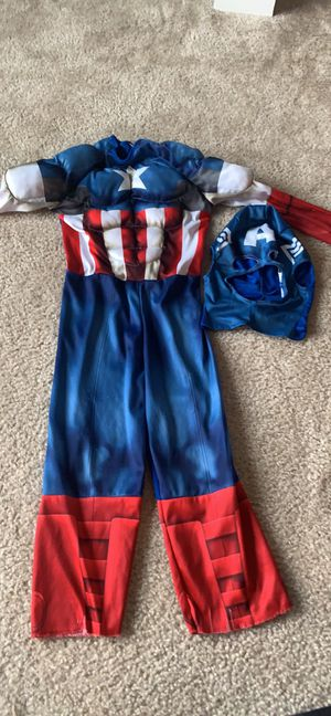 Captain America costume size 5/6 for Sale in Hamilton Township, NJ