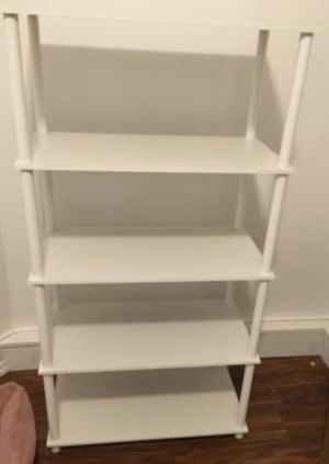 New!! 5 Shelf Unit,Bookcase, Storage Organizer-White for Sale in Phoenix, AZ