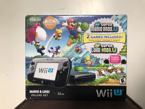 Nintendo Wii U super Mario bundle with box and pro controller for Sale in Hialeah, FL
