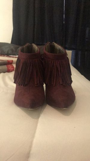 Wine red booties, size 7 for Sale in Temple, TX