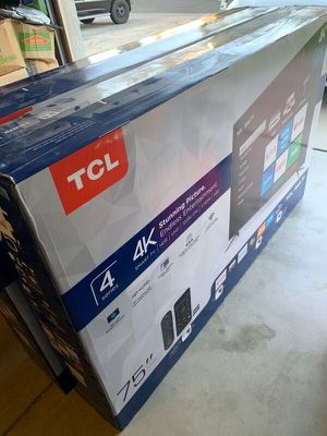 75 inch TCL Roku smart TV with Warranty for Sale in Pasadena, CA