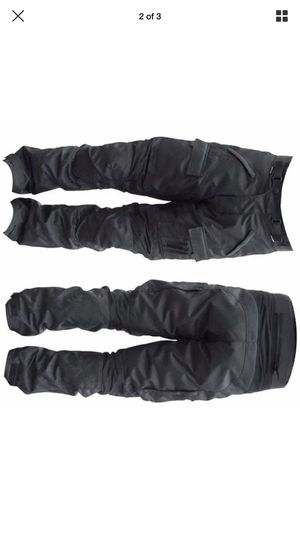 GoldSoni Mens CE ARMOURED BLACK WATERPROOF MOTORBIKE MOTORCYCLE TROUSERS PANTS for sale Pick up available drop off available free shipping pickup dr for Sale in Brooklyn, NY